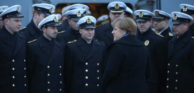 Chancellor Merkel Visits German Navy First Flotilla